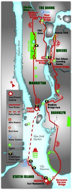 TD Bank Five Boro Bike Tour I think we should book massages for