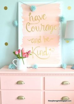 Pink turquoise n gold Fancy Farmhouse Bedroom Makeover | How Does She