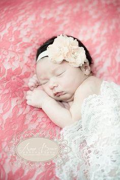 Blush Blossom Baby Headband  Flower Girl, Wedding #accessories #hair #headband @EtsyMktgTool http://etsy.me/2fl5veb