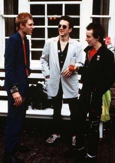 The Clash - Joe Strummer, Paul Simonon and Topper Headon.