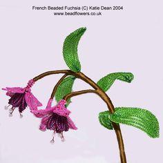 Fuchsia: French Beaded Flower Pattern