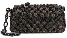 M Missoni Women's Raffia Shoulder Bag Black