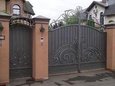 kalitka_dlya_zabora_01 Front Yard Fence, Brick Fence, Metal Fence, Wrought Iron Fences, Metal Gates, Iron Gates, Concrete Fence, Farm Fence, Dog Fence