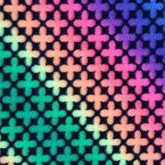 Anti- Pill Fleece Fabric- Neon Ombre Flower