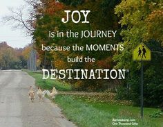 Joy is in the journey because the moments build the destination. Ann Voskamp