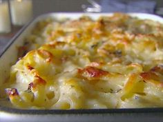 Creamy Baked Fettuccine : Creamy Baked Fettuccine is Giada's easy-but-elegant take on mac and cheese.