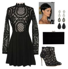"""""""Untitled #64"""" by fall1022 on Polyvore featuring Dolce&Gabbana, Charlotte Olympia and Oscar de la Renta"""