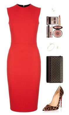 """""""Sin título #4162"""" by mdmsb on Polyvore featuring moda, Victoria Beckham, Christian Louboutin, Tiffany & Co. y Charlotte Tilbury"""