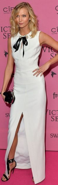 Karlie Kloss' white crystal gown id