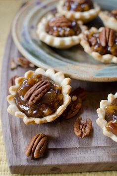 Mini Pecan Pies: These sweet little pecan pies are the perfect dessert to share at a gathering. Make 16 bite-size servings in just 30 minutes!