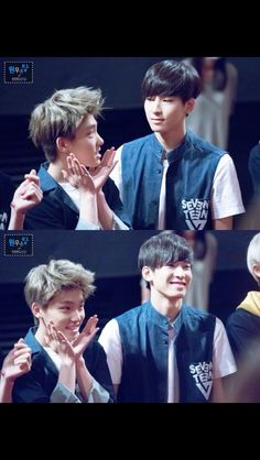 Dino: Hyung, am I cute? Wonwoo: -oh my god this boy but laughs anyway- Dino: yeah I'm cute.   credits to owners  