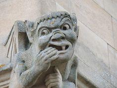 Gargoyle outside my window at Univ College, Oxford