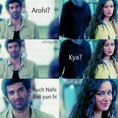 aashiqui 2 this scene. Bollywood Movie Songs, Bollywood Funny, Bollywood Posters, Bollywood Quotes, Bollywood Couples, Fate Quotes, Lyric Quotes, Movie Quotes, Lyrics