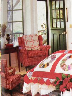 sweet country bedroom - love the quilt!