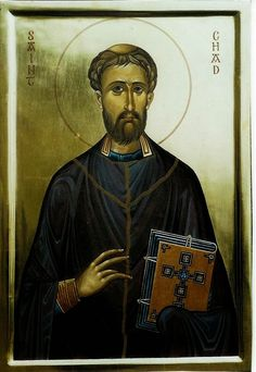 Feast Day : March 2 Also known as: Ceadda Much of what is known about the life of Chad comes from the Venerable Bede, who was one of his monks and disciples. Chad was probably bo Saints, Byzantine Icons, Catholic Saints, High Art, Catholic, St Cuthbert, Orthodox Icons, Roman Church, Sacred