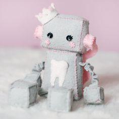 Felt Robot Plush Tooth Fairy (GinnyPenny on Etsy)
