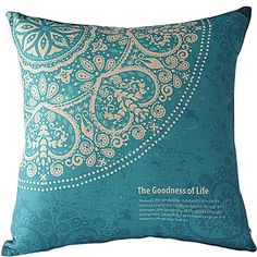 The+Goodness+of+Life+Cotton/Linen+Decorative+Pillow+Cover+–+USD+$+12.99