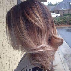 Soft Blonde Balayage on Medium Cut