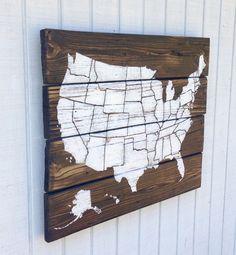 Custom USA Pallet Map Sign  USA Map Pallet Art by ArtBySarahSavage