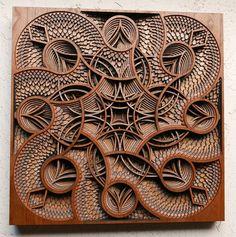 Laser-Cut wood sculptures by Gabriel Schama