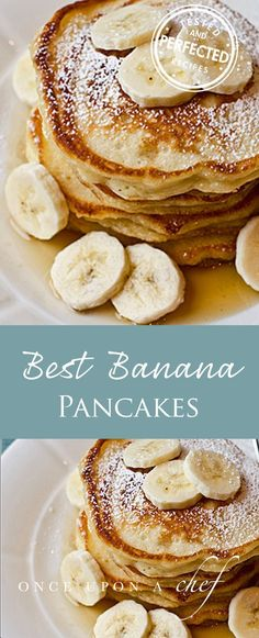 Fluffy on the inside, crispy on the outside, and delicately flavored with bananas and vanilla � these are phenomenal banana pancakes. The recipe, believe it or not, is adapted from a Williams Sonoma children�s cookbook, which only proves how easy they are