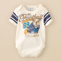 Bulldogs and Football. If we have a boy,this is on his must have list.
