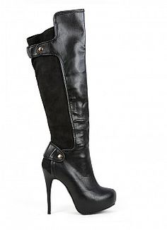 Button Elastic Boots