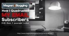 List building is an essential part of building a successful blogging business, here I share the 5 tactics that is helping me to boost email subscribers...