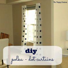 DIY Polka Dot Curtains