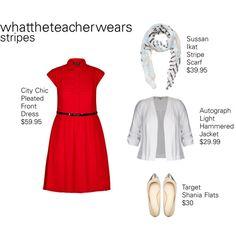 Stripes #2 by whattheteacherwears on Polyvore featuring whattheteacherwears