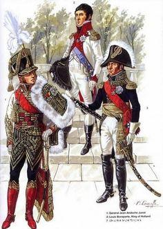 1-Général Jean Andoche Junot. 2-Louis Bonaparte, Roi de Hollande. 3-Maréchal…
