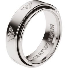 Stainless Steel Emporio Armani Ring