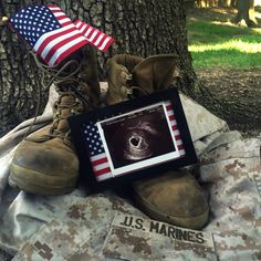 48 Trendy Ideas For Baby Photography Military Pregnancy Announcements Military Pregnancy Announcement, Baby Announcement To Husband, New Baby Announcements, Military Maternity, Military Couples, Marine Baby, Army Baby, Military Baby Pictures, Boyfriend Pictures