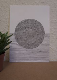 'One-off' illustrations by Danielle Tweedie. Inspired by map contours and repetitive line drawings, each illustration explores a new pattern, experimenting with line widths and shapes to create hypnotizing illusions.