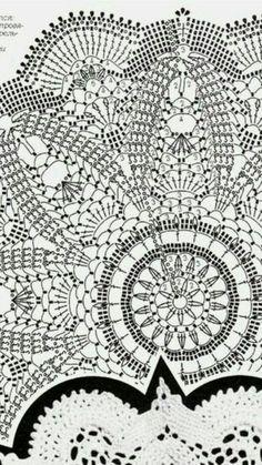 Best 12 Crochet Lace Curtains Tablecloths 60 Ideas – Page 646196246517802568 Crochet Doily Rug, Crochet Doily Diagram, Crochet Edging Patterns, Crochet Carpet, Crochet Mandala Pattern, Crochet Dollies, Crochet Cushions, Crochet Tablecloth, Diy Crafts Crochet