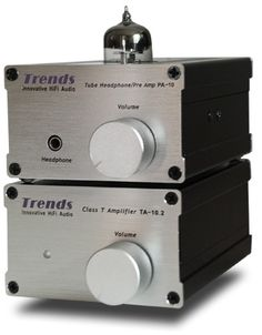 Trends Audio Integrated Amplifier TA 10.2 and Preamplifier PA - 10. The tube preamp. runs extremely hot!