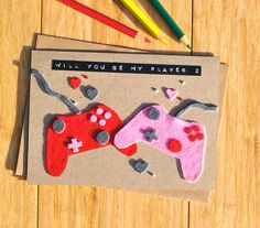 Gamer Valentine's Day card Console Valentines card