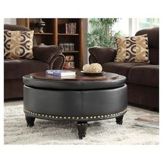 Everyone Must Be Excited When Seeing Something Unique Like This Living Room Furniture A Tufted Leather Ottoman Coffee Table Is Rarely Found In Other