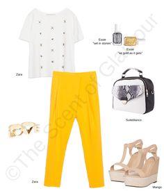 Bright Yellow and White