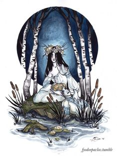 Now that GhostBook is finally available for sale from 13 Crowns Studio, I'm posting my illustration for it. I interpreted the ghost theme somewhat freely with a painting of a rusalka. Unlike Western mermaids, rusalkas in Russian lore were young women. Character Inspiration, Character Art, Art Sketches, Art Drawings, Wicca, Dark Spirit, Water Nymphs, Goth Art, Fandom