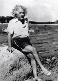 Albert Einstein looking fabulous. I love this man!!