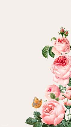 phone wall paper vsco Hand drawn p - phonewallpaper Framed Wallpaper, Flower Background Wallpaper, Beige Background, Background Vintage, Flower Backgrounds, Wallpaper Backgrounds, Vintage Backgrounds, Rose Frame, Flower Frame