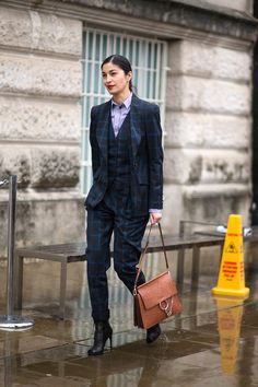 I love a great men's suit, especially on a woman! Caroline Issa   - HarpersBAZAAR.com