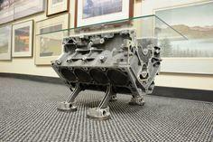 Custom made V8 MOTOR CAR ENGINE coffee/side table