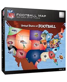 Show your expertize of where each team reigns when you build the NFL Fan Map Jigsaw Puzzle. Printed in vibrant colors then laser cut to create precise fitting puzzle pieces made of blue board creating a puzzle that doesn't warp, bend or absorb mo. Sports Gifts, Nfl Sports, Sports Fan Shop, Nfl Usa, Usa Puzzle, Messi Gif, Football Mexicano, Nfl Football Teams, Toys R Us Canada