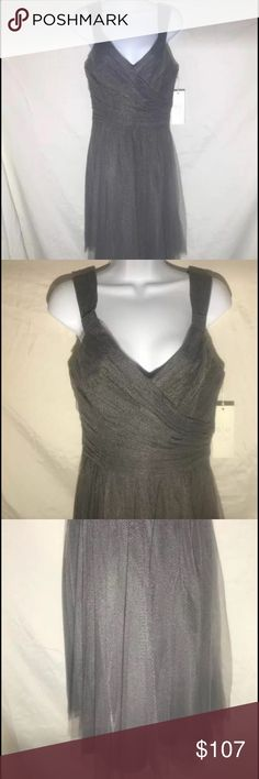 Gather & Gown Women's Dress, Size 10, Slate (gray) From Designer David Tutera NWT Gather & Gown Women's Formal Dress Lake Dress Size: 10 Color: Slate (gray), 021 Style: 511 Material: tulle PO: 93002 UPC: 841086101713 Length: approximately 31 inches from under arm hem to bottom hem All Gather & Gown dresses already listed 35% below current retail value and listed prices on Gather & gown website and stores If interested view and try on for fit at Raw Edge Consignment, message me for address…