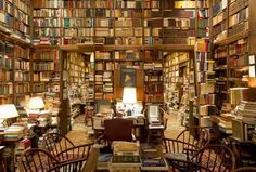 The library of Professor emeritus Richard Macksey, co-founder of the Humanities Center at Johns Hopkins University. For many years, Prof. Macksey held graduate seminars in this library, an experience his students counted as among the highlights of their education.
