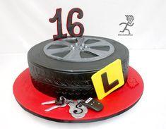 Tyre Cake with Edible Keyring & Keys - cake by Ciccio - Birthday Cake Vanilla Ideen Boys 16th Birthday Cake, Boys Bday Cakes, Birthday Cakes, Birthday Parties, Tire Cake, Wheel Cake, Sweet 16 Cakes, Cakes For Boys, Car Wheels