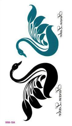 swan tattoo - for Brynlee Grace Stencil Patterns, Stencil Designs, Embroidery Patterns, Machine Embroidery, Bird Stencil, Stencil Painting, Fabric Painting, Schwan Tattoo, Bird Silhouette Art