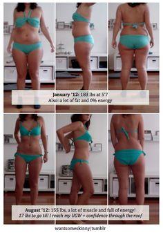 5'7. 183 lbs - 155 lbs